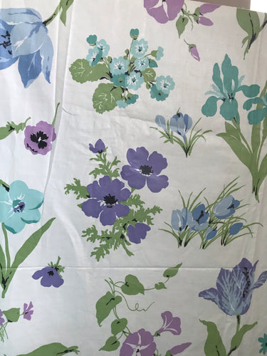 1950's Polished Cotton with oversize wildflowers