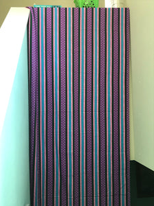 1970's Purple, Pink and Blue Striped fabric