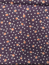 1980's Dusty Purple Tiny Floral Cotton