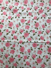 1940's Pink Rose fabric - Polished Cotton