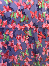 1960's Purple cotton with watercolor butterflies