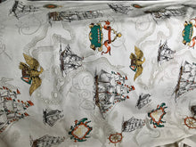 1950's Ship and Map fabric