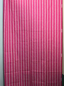 1980's Pink Striped with white fabric - Cotton blend