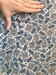 1940/50's Cuprammonium Rayon lining with blue paisley design