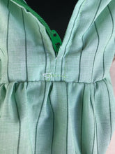 1970/80's Green Striped Square Dance Dress - S/M