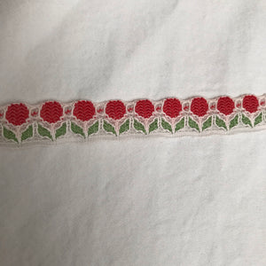 1960's or 1970's Cherry or Flower lace trim