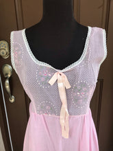 1960's Movie Star Nightgown with sheer flocked top - M/L
