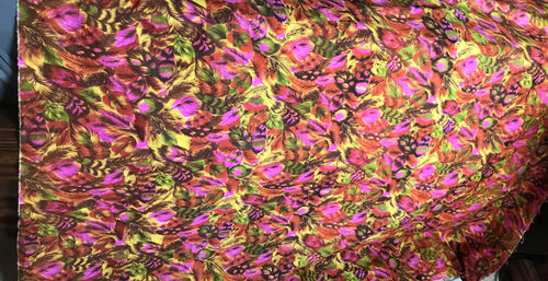 1960/70's Feather Print in bright colors