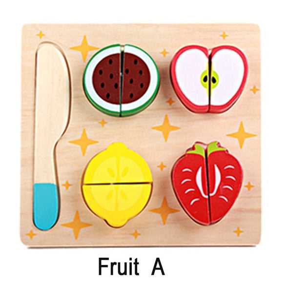 WOODEN FRUIT AND VEGETABLE SET
