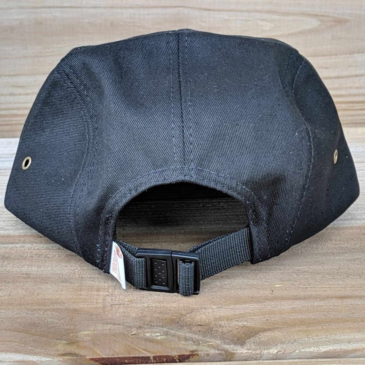 Back View of Black Hat with Cork Bill