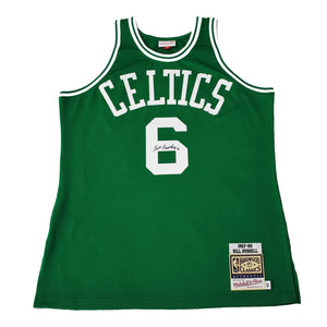 "Autographed Authentic Mitchell & Ness NBA Jersey ""Bill Russell #6"""