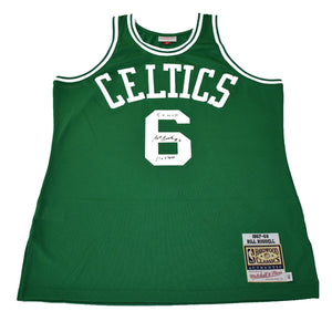 "Autographed Authentic Mitchell & Ness NBA Jersey ""Bill Russell #6 5X MVP 11X Champ"""