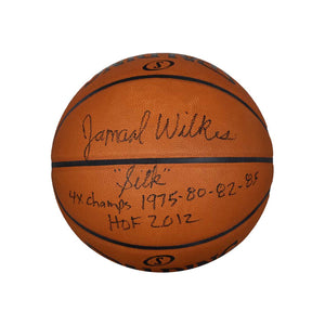 Autographed Spalding NBA Leather Game Ball – Black