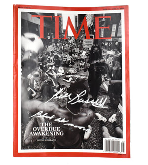 "Autographed Time Magazine (Double Issue) ""The Overdue Awakening"" Black Lives Matter"