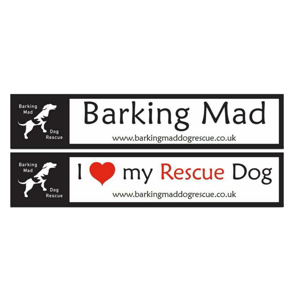 Barking Mad Dog Rescue Car Stickers