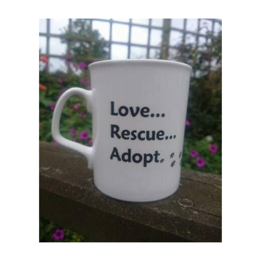 Barking Mad Dog Rescue Fine China Mug  - Love...Rescue...Adopt