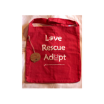 'Love, Rescue, Adopt', Salvage Tote - Red