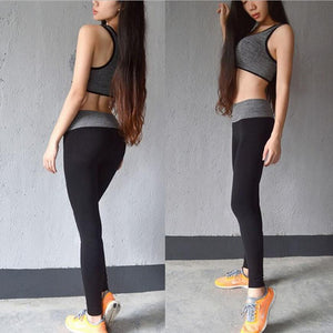 Elastic Gym Fitness Workout Trousers