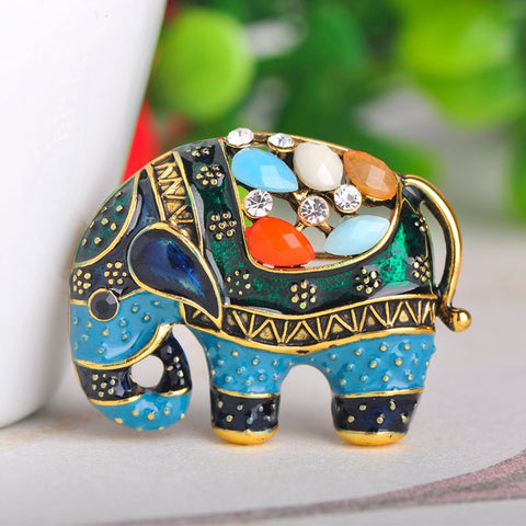 16d4b36ac95 Blucome Thailand Elephant Shape Brooch Colorful Enamel Resin Brooches Pins  For Women Kids Scarf Clothes Hat