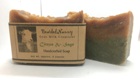 Citrus & Sage Goat Milk Soap Bar