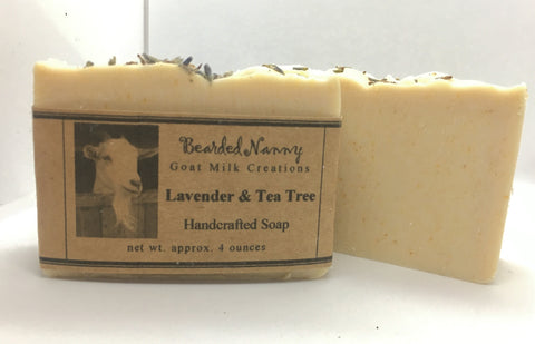 Lavender & Tea Tree Goat Milk Soap Bar