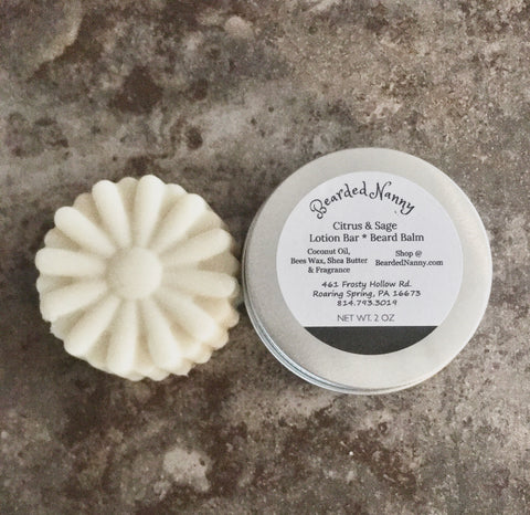 Citrus & Sage Lotion Bar in a Tin