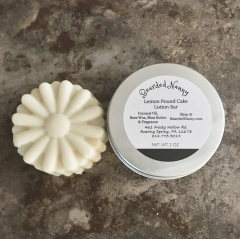 Lemon Pound Cake Lotion Bar in a Tin