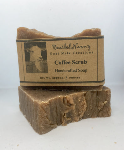 Coffee Scrub Goat Milk Soap Bar