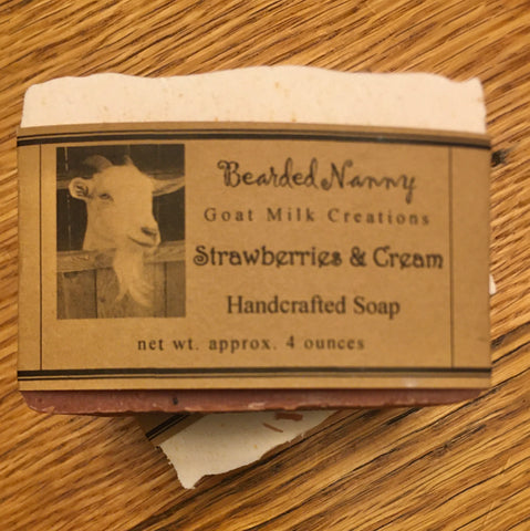 Strawberries & Cream Goat Milk Soap Bar