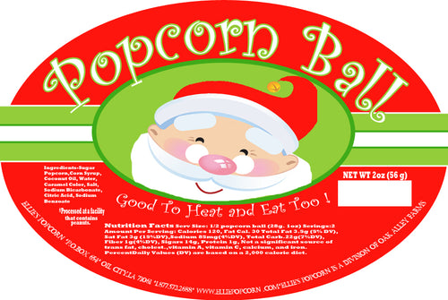 Ellie's - Original Popcorn Ball Christmas Counter Display