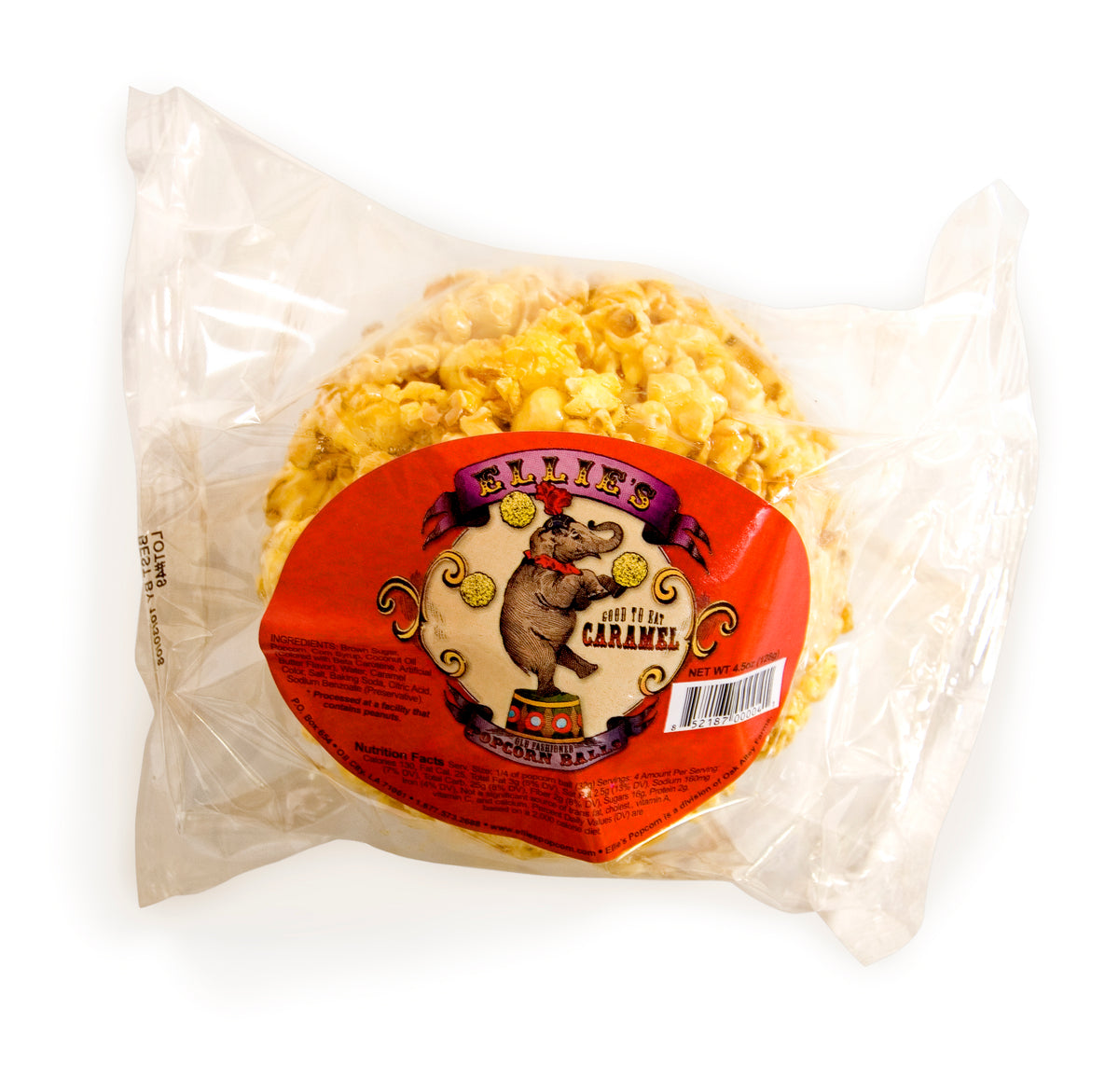 Ellie's - Caramel Popcorn Ball Open Stock
