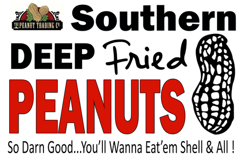 Deep Fried Peanuts Signage