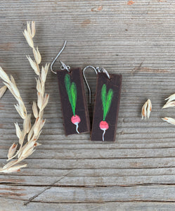 Hand-painted Veggie Earrings
