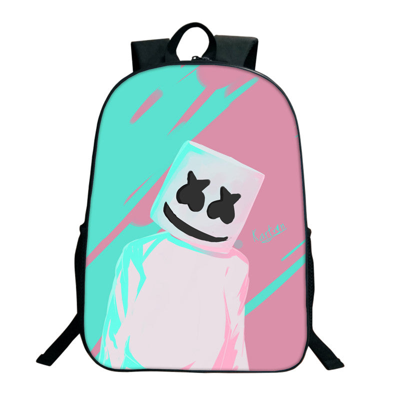 Marshmello 3D Printing Backpack Boy Girl Creative Backpack