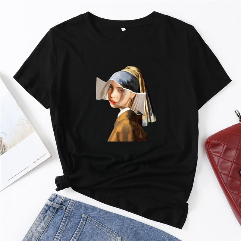 Billie Eilish T-Shirt Fashion Short Sleeve Sweatshirt
