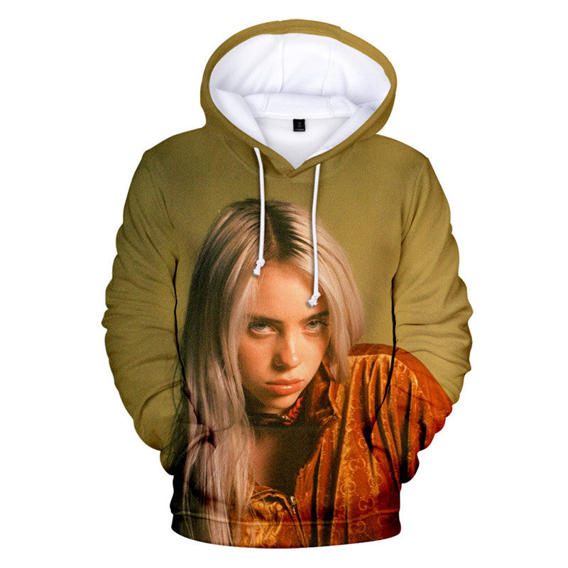 Billie Eilish Women 3D Print Hoodie Sweatshirt