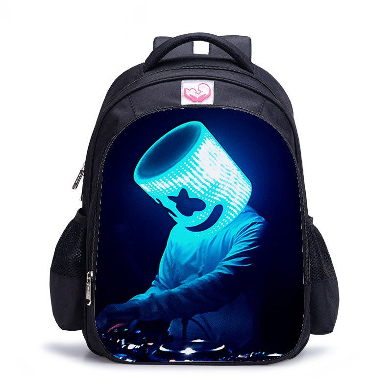 DJ Marshmello Bookbag Kids Women&Men Travel Backpack