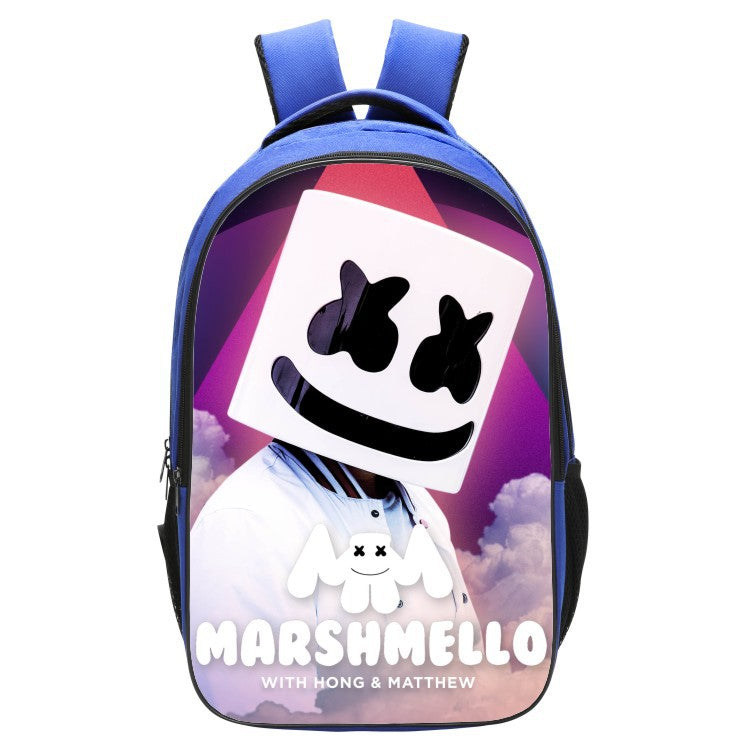 DJ Marshmello School Bags Kids Women&Men Cute Backpacks