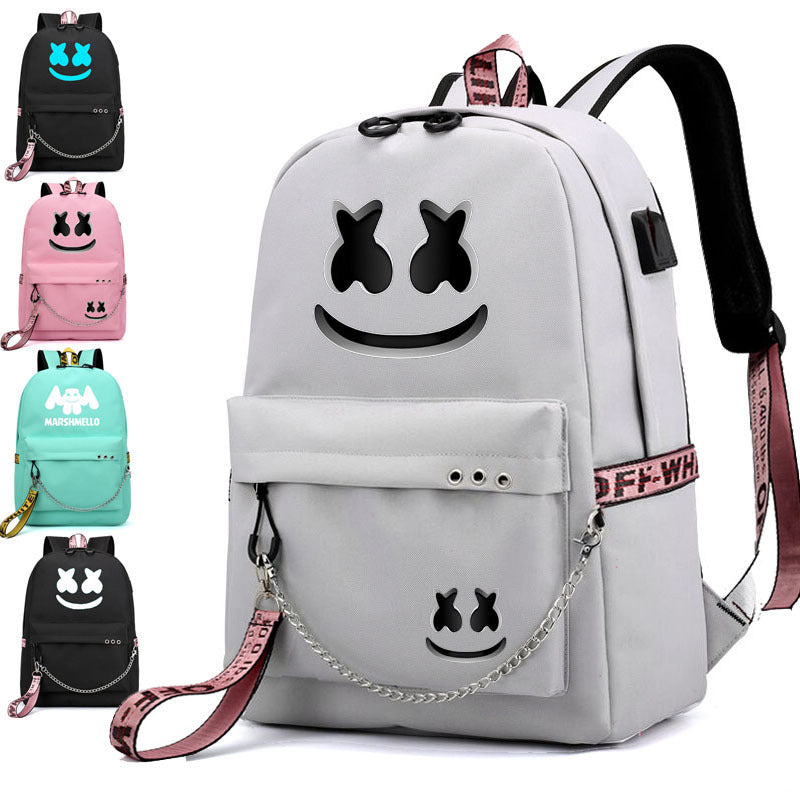 DJ Marshmello  Schoolbag For Kids Women&Men Cute Backpacks