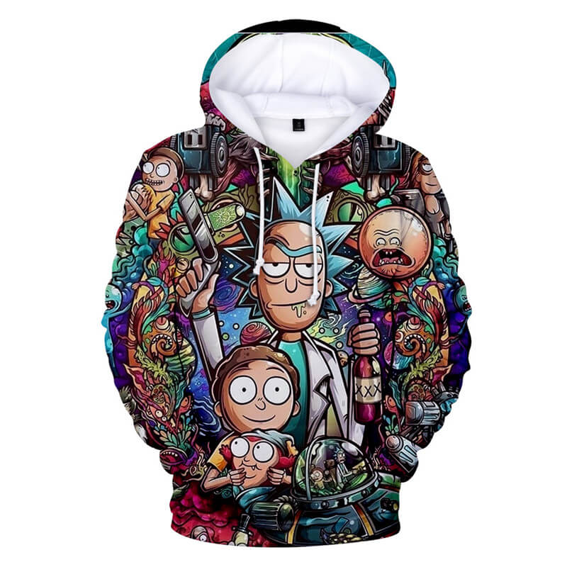 Hot Sale Rick and Morty Hoodie Women/Men 3D Sweatshirt