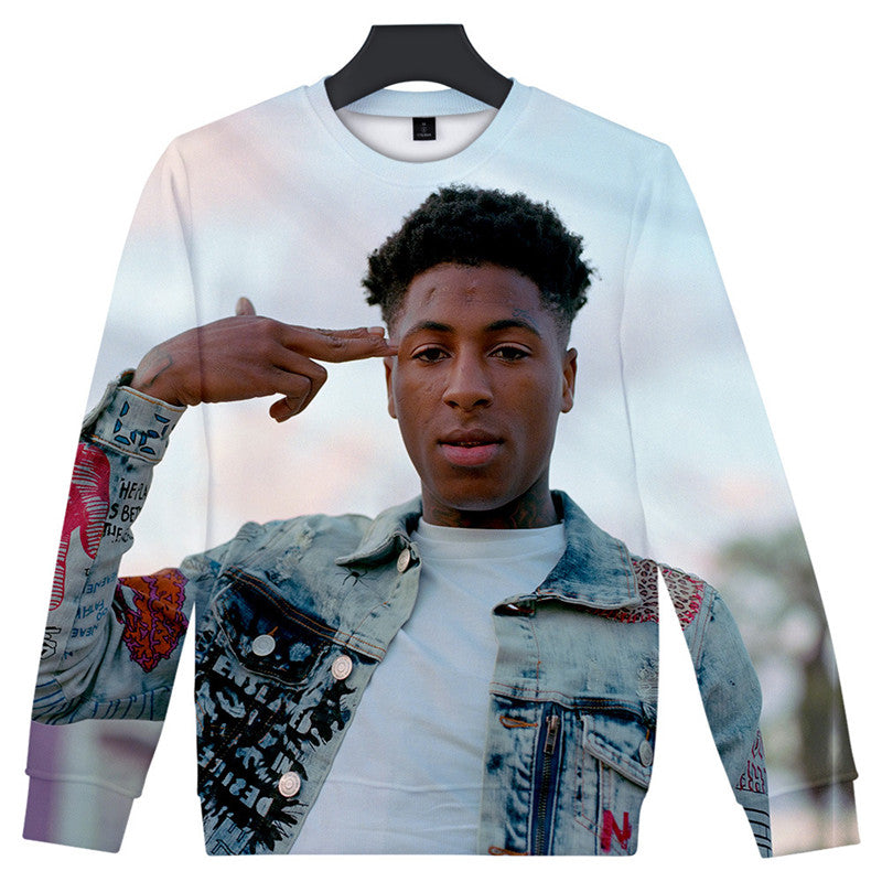 Men Women 3D Print Fashion NBA YoungBoy Hoodie