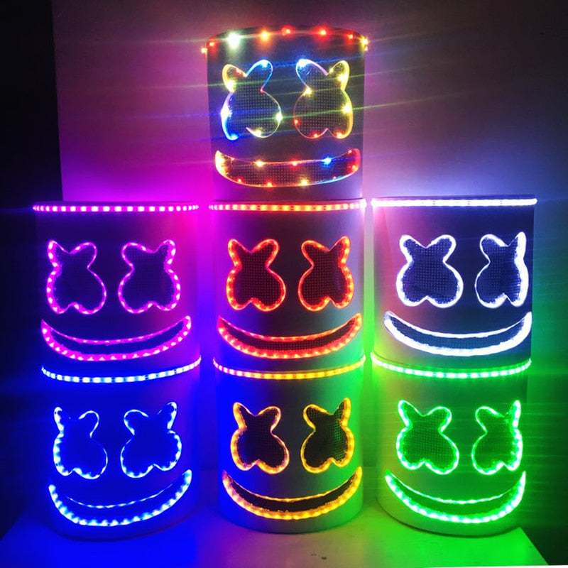 Marshmello DJ Mask LED Light Halloween Cosplay Masks Party