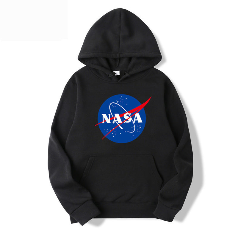 NASA Print Fashion Hoodie Sweatshirt With Pocket