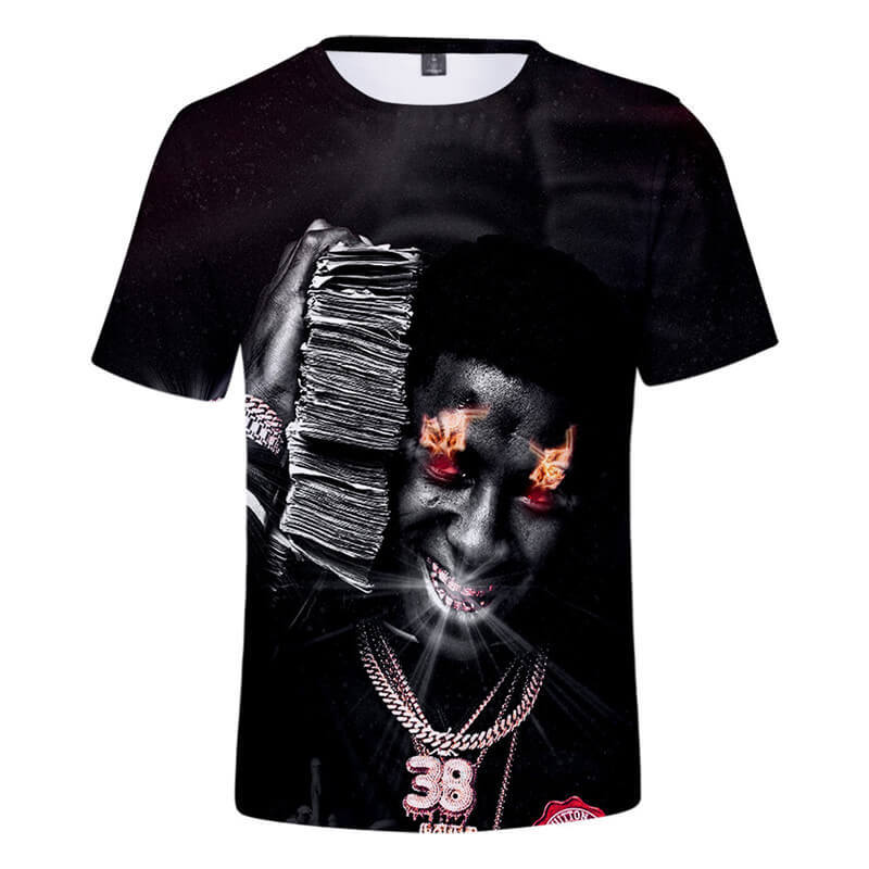 NBA YoungBoy T-Shirts Unisex 3D Short Sleeve Sweatshirt