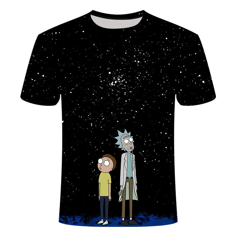 Newest 3D Print Rick and Morty T-Shirts Unisex Tops