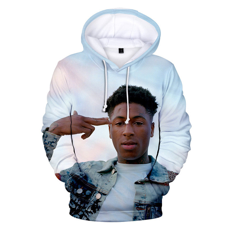 Newest Men Women 3D YoungBoy Never Broke Again Hoodie