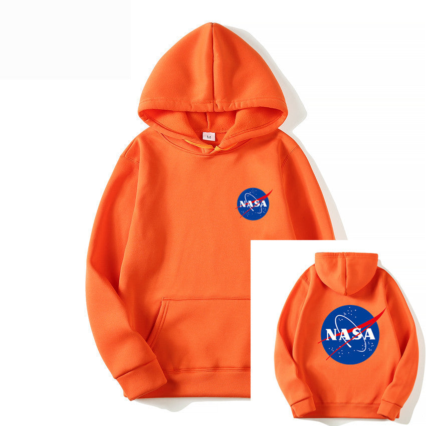 Print NASA Before And After Logo Hoodie Sweatshirt