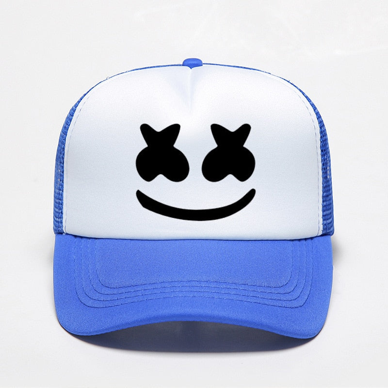 Marshmello Hats Print Sunshade Baseball Hat