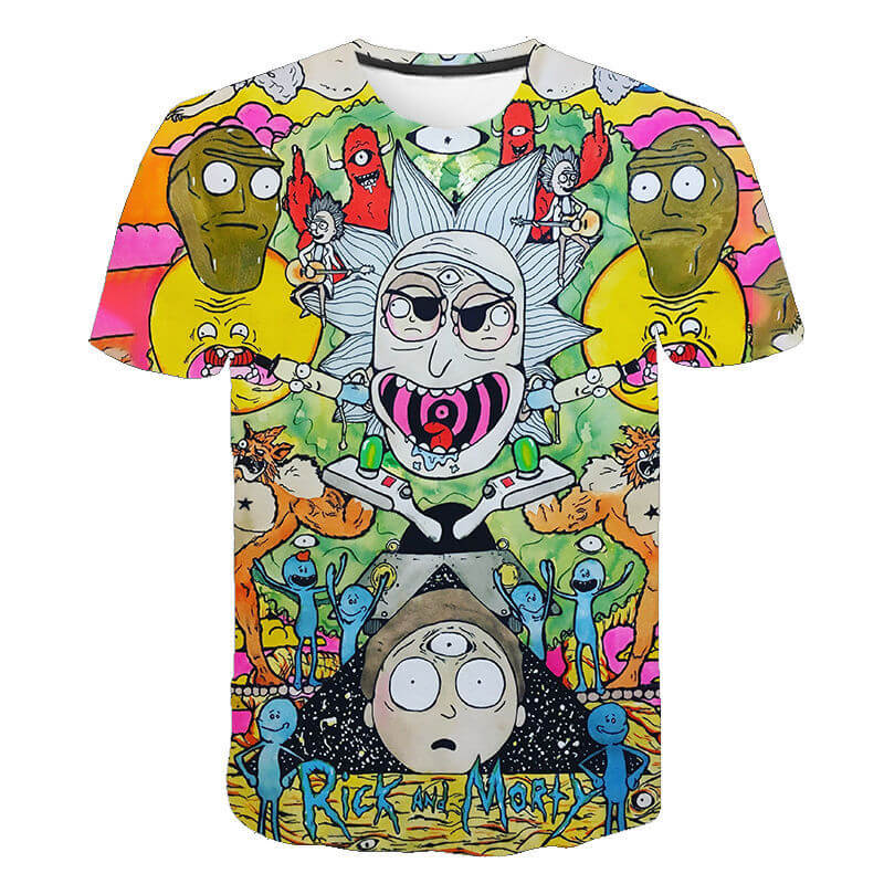 Unisex 3D Hot Sale Short Sleeve Rick and Morty T-Shirts
