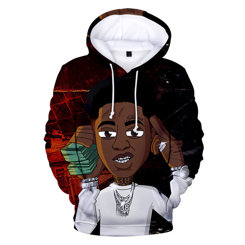 Unisex 3D Print YoungBoy Never Broke Again Hoodie